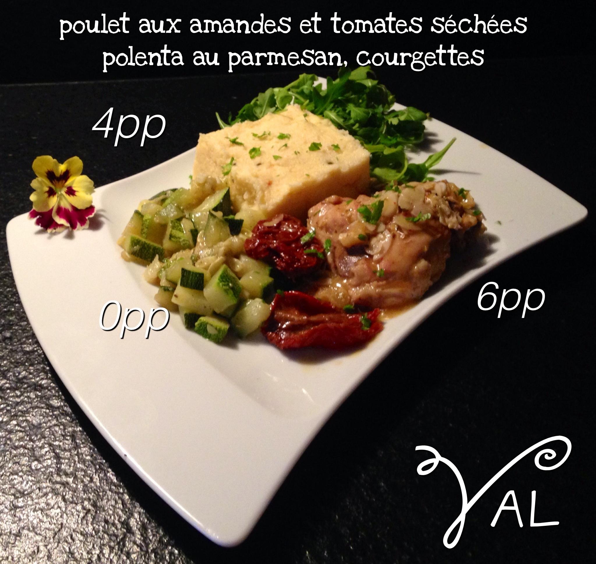 Poulet aux amandes et tomates s ch es polenta au parmesan - Cuisiner les morilles sechees ...